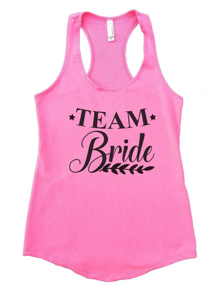 Team Bride Womens Workout Tank Top Funny Shirt Small / Heather Pink