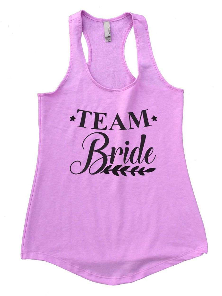 Team Bride Womens Workout Tank Top Funny Shirt Small / Lilac