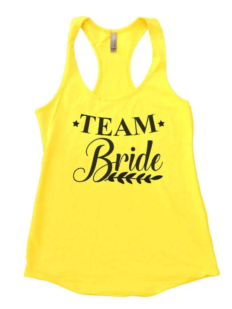 Team Bride Womens Workout Tank Top Funny Shirt Small / Yellow