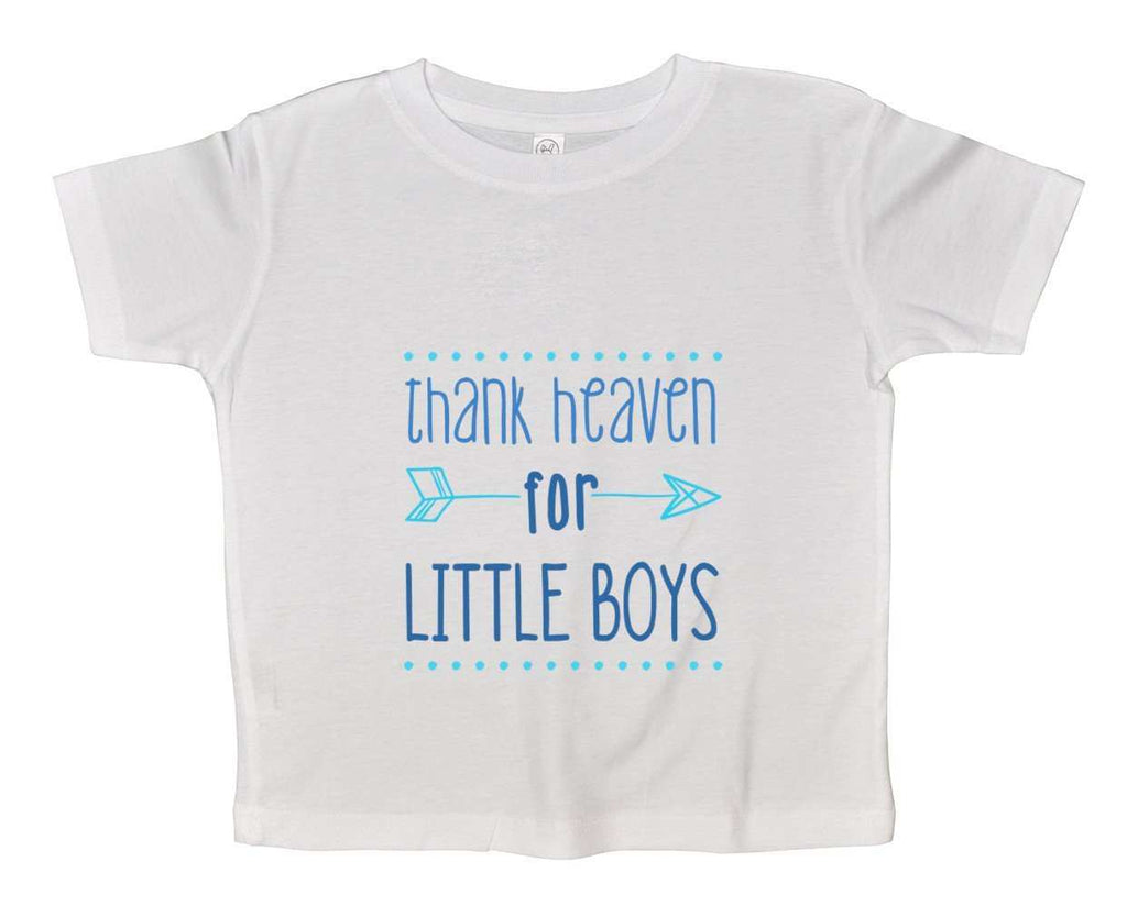 Thank Heaven For Little Boys Funny Kids Onesie Funny Shirt 2T White Shirt