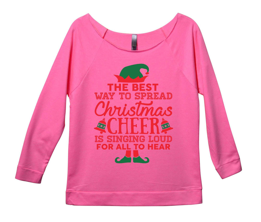 the best way to spread christmas cheer is singing loud for all to hear womens 34 long sleeve vintage raw edge shirt