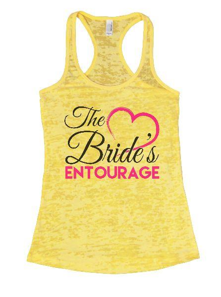The Bride's Entourage Burnout Tank Top By Funny Threadz Funny Shirt Small / Yellow