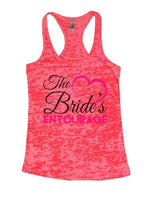 The Bride's Entourage Burnout Tank Top By Funny Threadz Funny Shirt Small / Shocking Pink