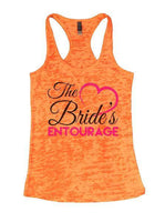 The Bride's Entourage Burnout Tank Top By Funny Threadz Funny Shirt Small / Neon Orange