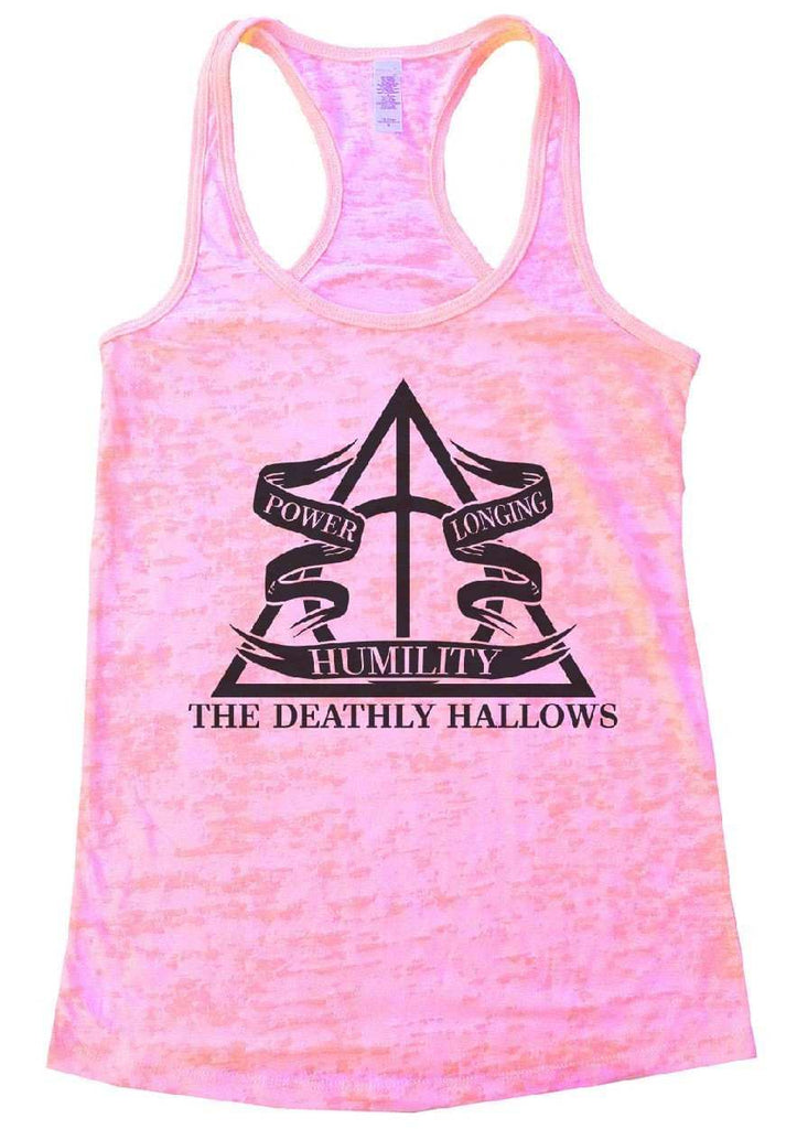 The Deathly Hallows Burnout Tank Top By Funny Threadz Funny Shirt Small / Light Pink