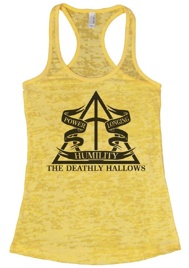 The Deathly Hallows Burnout Tank Top By Funny Threadz Funny Shirt Small / Yellow