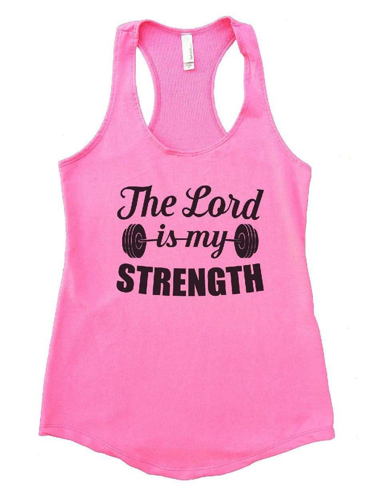 The Lord Is My Strength Womens Workout Tank Top Funny Shirt Small / Heather Pink