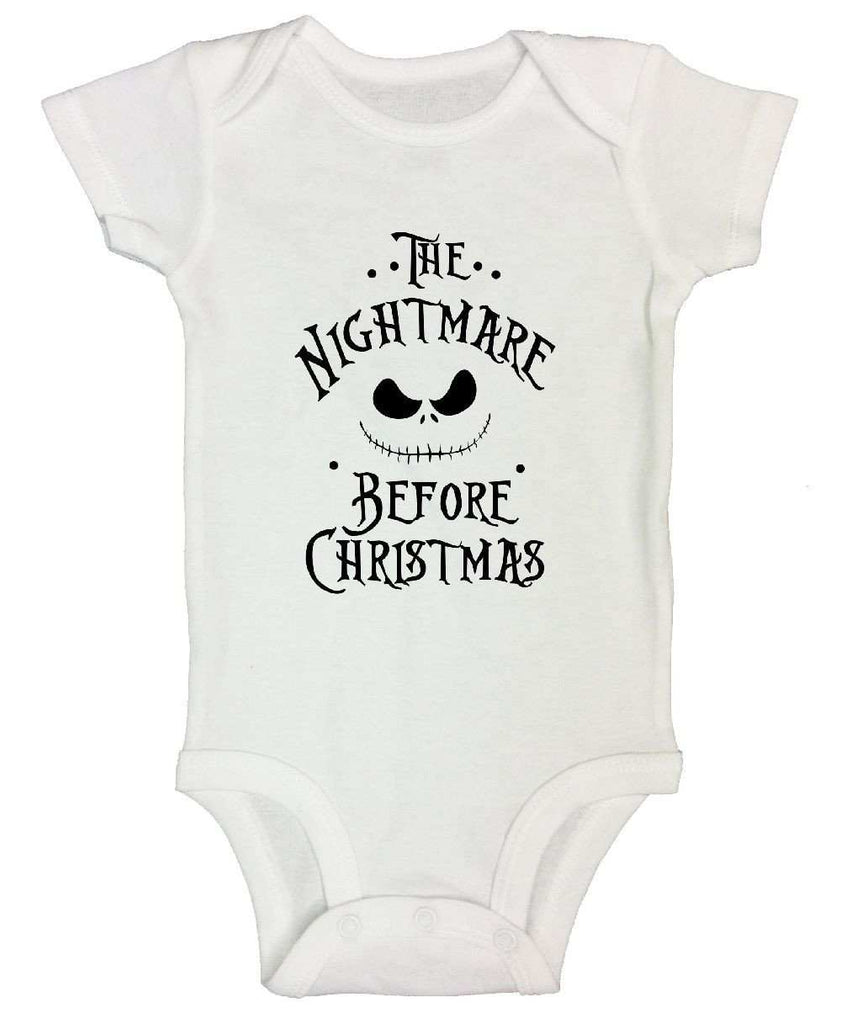 The Nightmare Before Christmas FUNNY KIDS ONESIE Funny Shirt Short Sleeve 0-3 Months