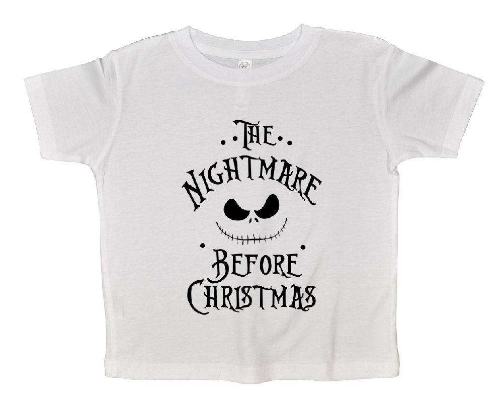 The Nightmare Before Christmas FUNNY KIDS ONESIE Funny Shirt 2T White Shirt