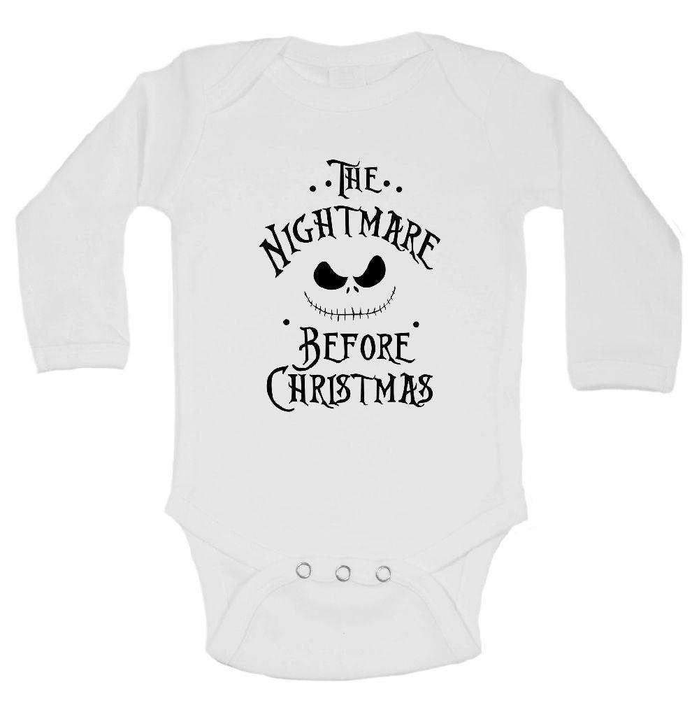 The Nightmare Before Christmas FUNNY KIDS ONESIE Funny Shirt Long Sleeve 0-3 Months