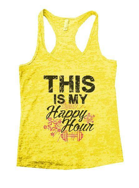 This Is My Happy Hour Burnout Tank Top By Funny Threadz Funny Shirt Small / Yellow
