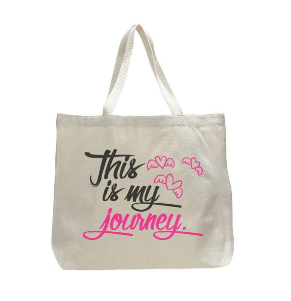 This Is My Journey - Trendy Natural Canvas Bag - Funny and Unique - Tote Bag Funny Shirt
