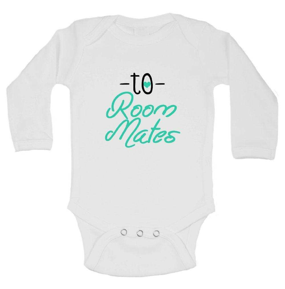 To Room Mates Funny Kids Onesie Funny Shirt Long Sleeve 0-3 Months