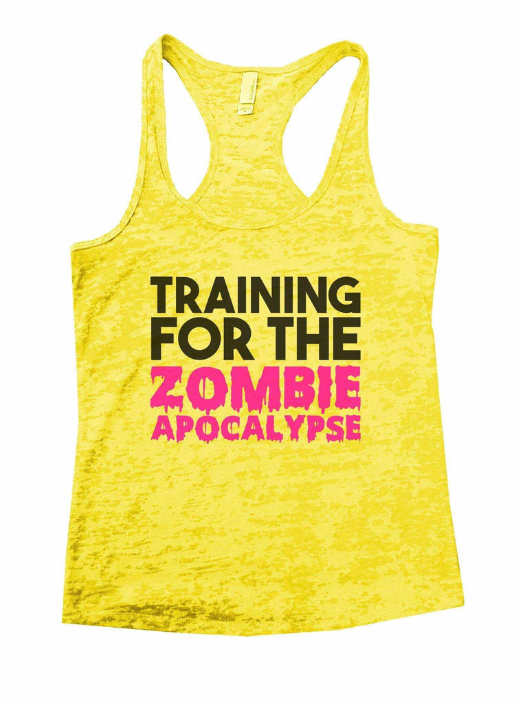 Training For The Zombie Apocalypse Burnout Tank Top By Funny Threadz Funny Shirt Small / Yellow