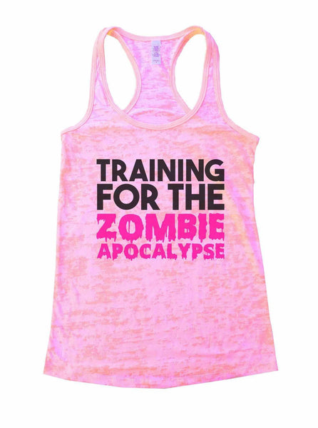 Training For The Zombie Apocalypse Burnout Tank Top By Funny Threadz Funny Shirt Small / Light Pink