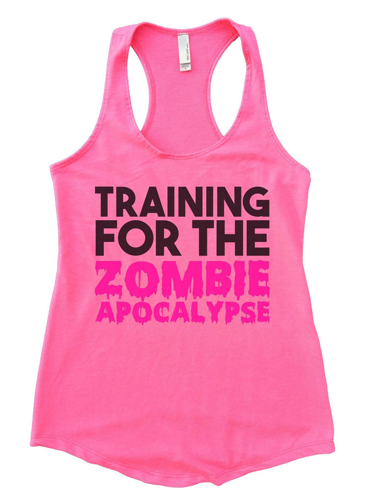 Training For The Zombie Apocalypse Womens Workout Tank Top Funny Shirt Small / Heather Pink