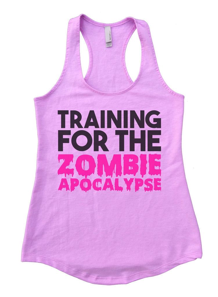 Training For The Zombie Apocalypse Womens Workout Tank Top Funny Shirt Small / Lilac