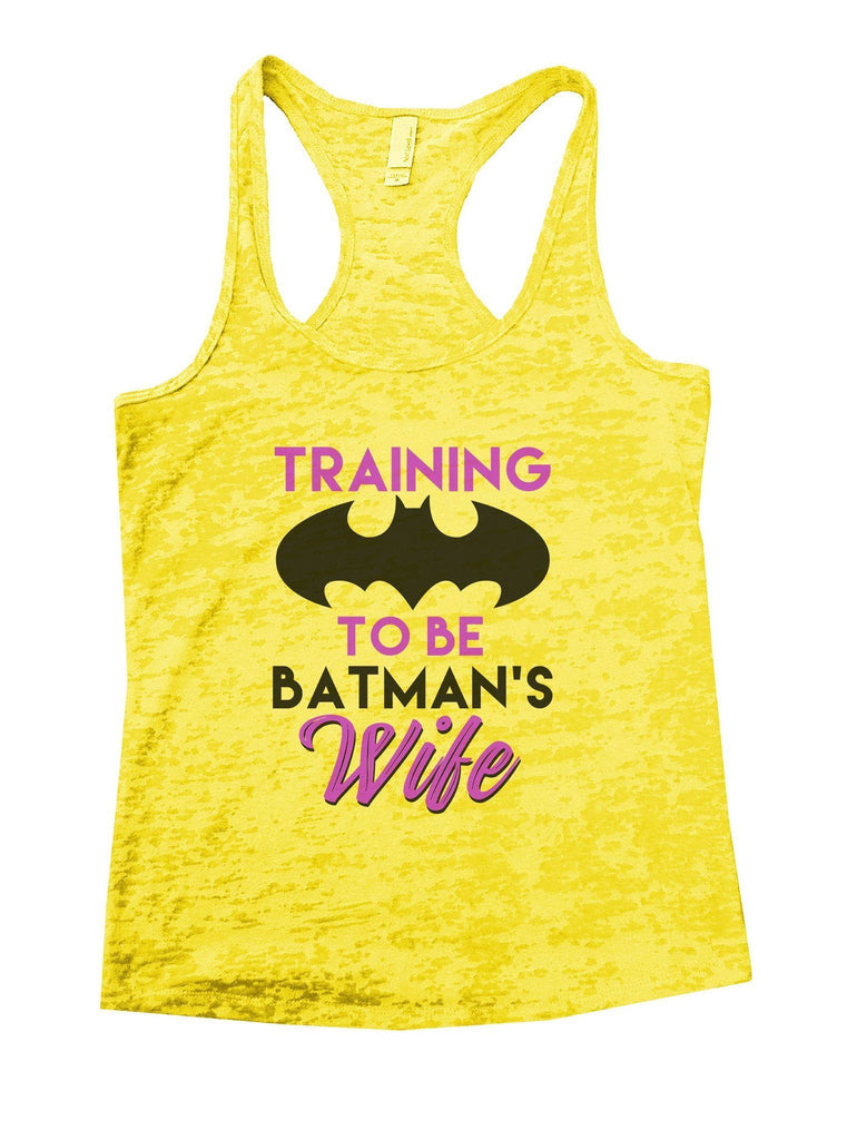 Training To Be Batman's Wife Burnout Tank Top By Funny Threadz Funny Shirt Small / Yellow