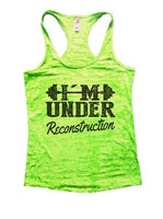 Under Reconstruction Burnout Tank Top By Funny Threadz Funny Shirt Small / Neon Green
