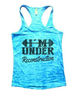 Under Reconstruction Burnout Tank Top By Funny Threadz Funny Shirt Small / Tahiti Blue
