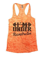 Under Reconstruction Burnout Tank Top By Funny Threadz Funny Shirt Small / Neon Orange