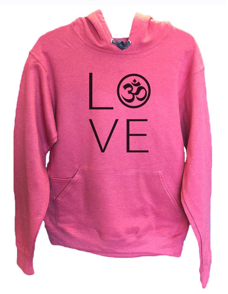 UNISEX HOODIE - Heart I Love Ohm - FUNNY MENS AND WOMENS HOODED SWEATSHIRTS - 2184 Funny Shirt Small / Cranberry Red