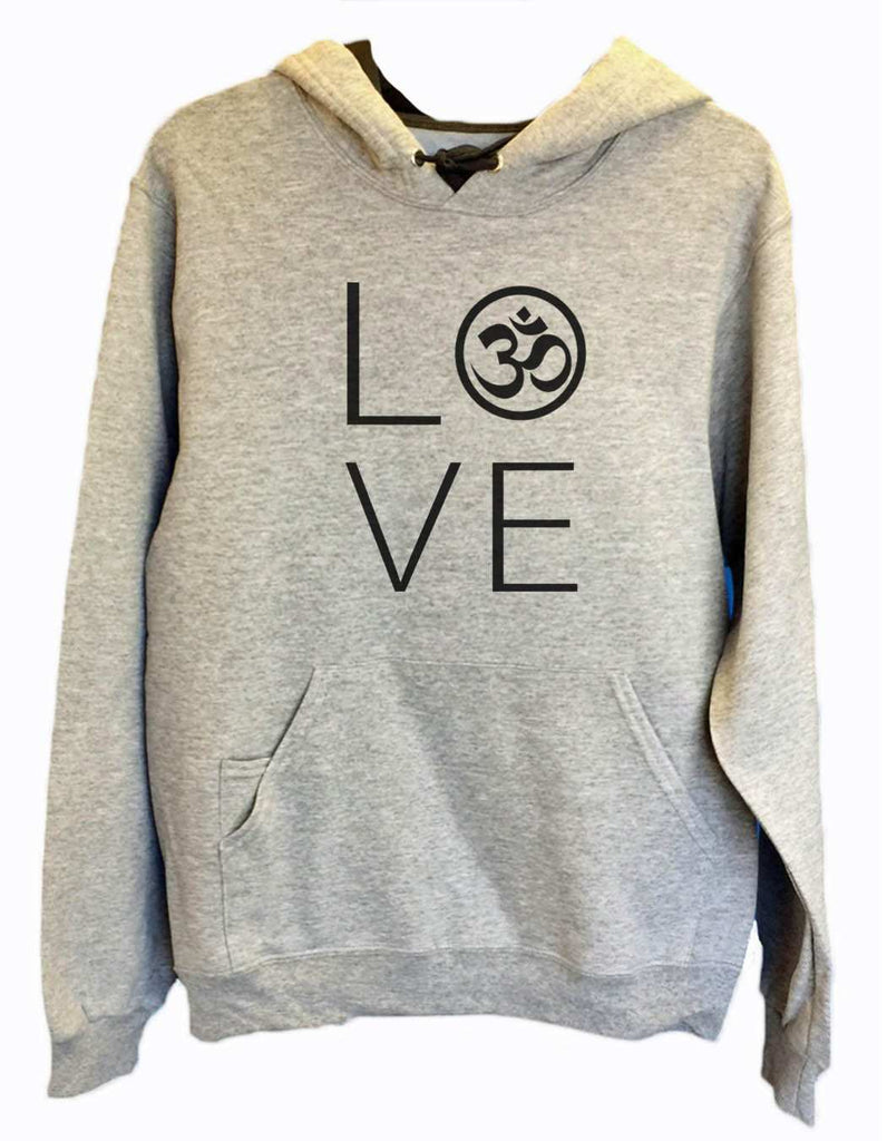 UNISEX HOODIE - Heart I Love Ohm - FUNNY MENS AND WOMENS HOODED SWEATSHIRTS - 2184 Funny Shirt