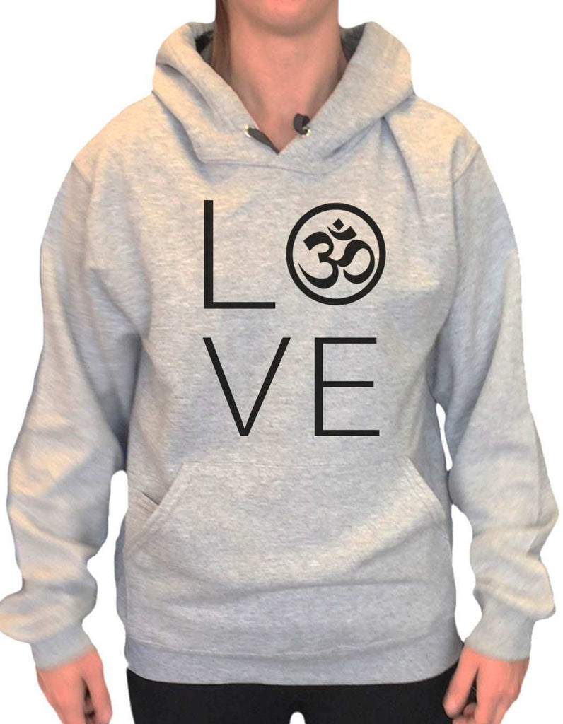 UNISEX HOODIE - Heart I Love Ohm - FUNNY MENS AND WOMENS HOODED SWEATSHIRTS - 2184 Funny Shirt Small / Heather Grey