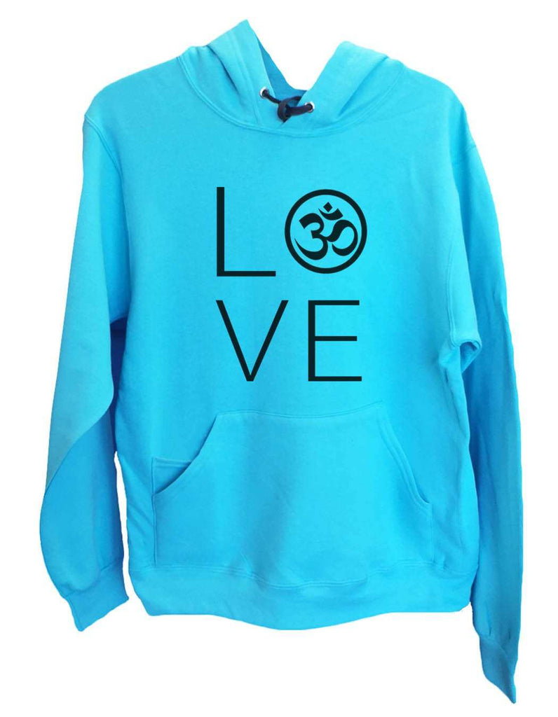 UNISEX HOODIE - Heart I Love Ohm - FUNNY MENS AND WOMENS HOODED SWEATSHIRTS - 2184 Funny Shirt Small / Turquoise