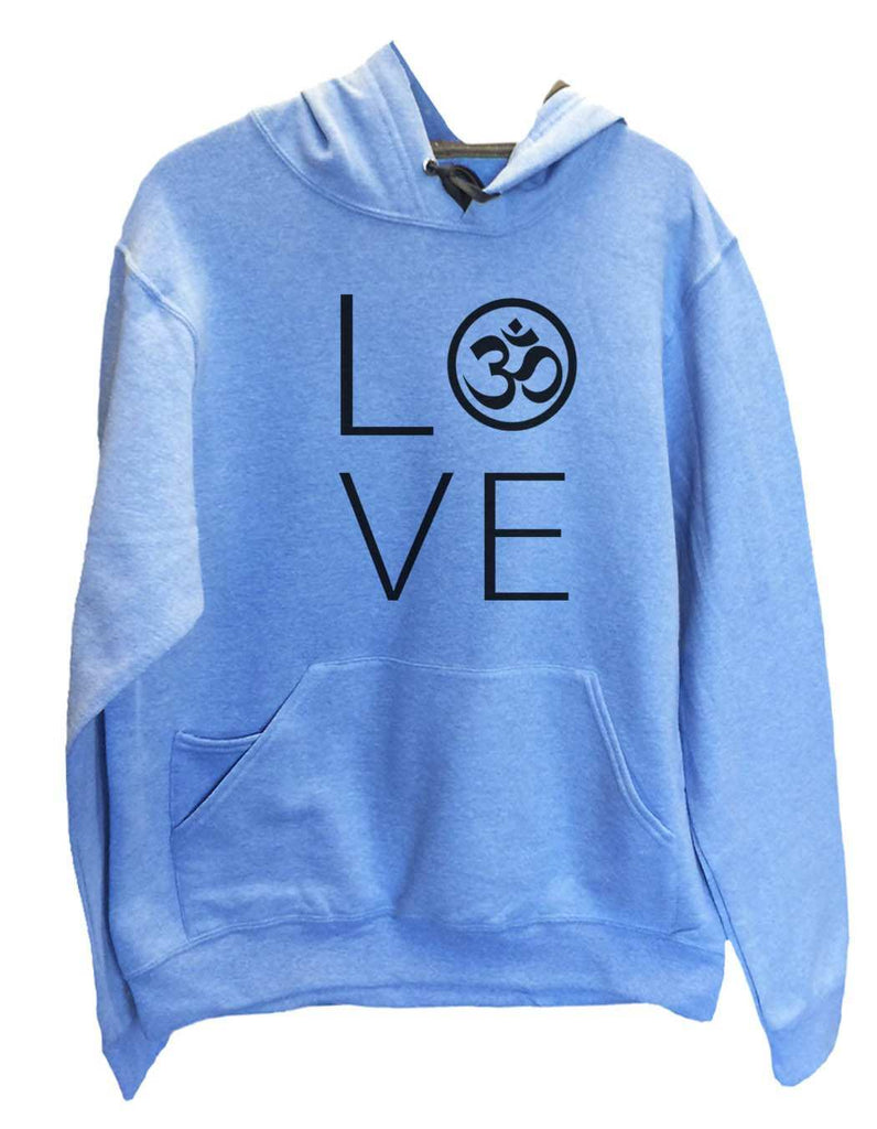 UNISEX HOODIE - Heart I Love Ohm - FUNNY MENS AND WOMENS HOODED SWEATSHIRTS - 2184 Funny Shirt Small / North Carolina Blue