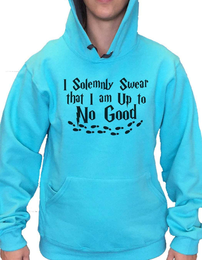 UNISEX HOODIE - I Solemnly Swear That I Am Up To No Good - FUNNY MENS AND WOMENS HOODED SWEATSHIRTS - 2267 Funny Shirt Small / Turquoise