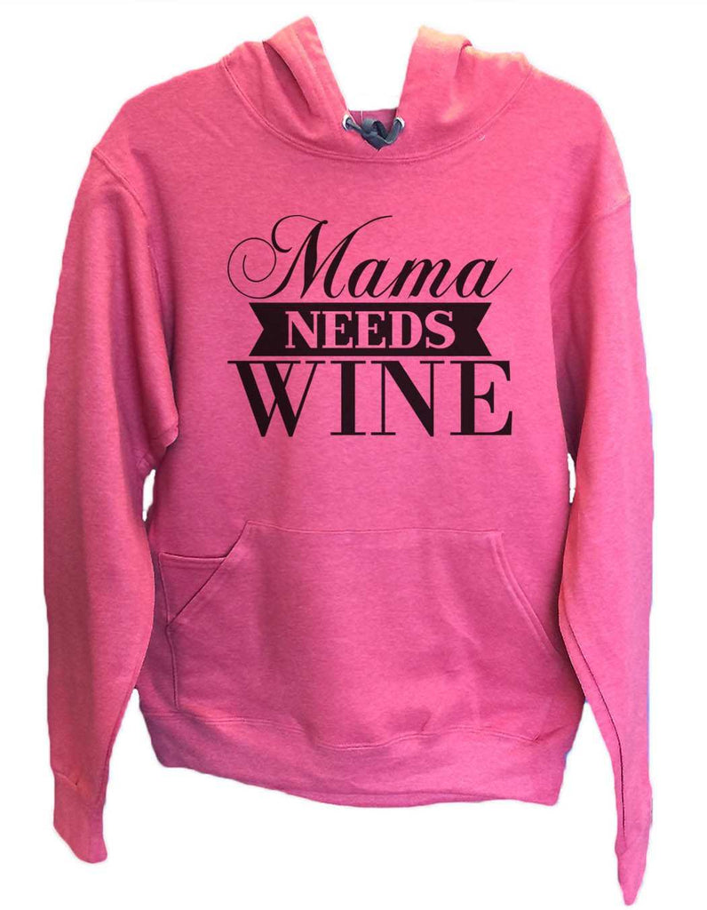 UNISEX HOODIE - Mama Needs Wine - FUNNY MENS AND WOMENS HOODED SWEATSHIRTS - 2147 Funny Shirt Small / Cranberry Red
