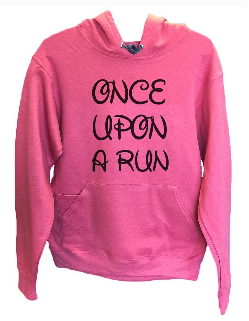 Unisex Hoodie - Once Upon A Run - Funny Mens and Womens Hooded Sweatshirts - 531 Funny Shirt Small / Cranberry Red