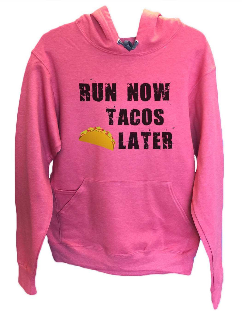 UNISEX HOODIE - Run Now Tacos Later - FUNNY MENS AND WOMENS HOODED SWEATSHIRTS - 650 Funny Shirt Small / Cranberry Red