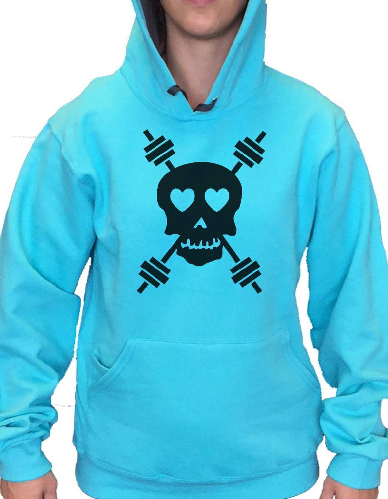 UNISEX HOODIE - Skull - FUNNY MENS AND WOMENS HOODED SWEATSHIRTS - 653 Funny Shirt Small / Turquoise