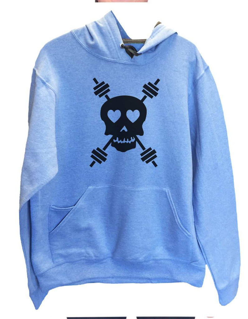 UNISEX HOODIE - Skull - FUNNY MENS AND WOMENS HOODED SWEATSHIRTS - 653 Funny Shirt Small / North Carolina Blue