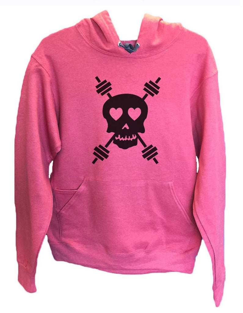 UNISEX HOODIE - Skull - FUNNY MENS AND WOMENS HOODED SWEATSHIRTS - 653 Funny Shirt Small / Cranberry Red