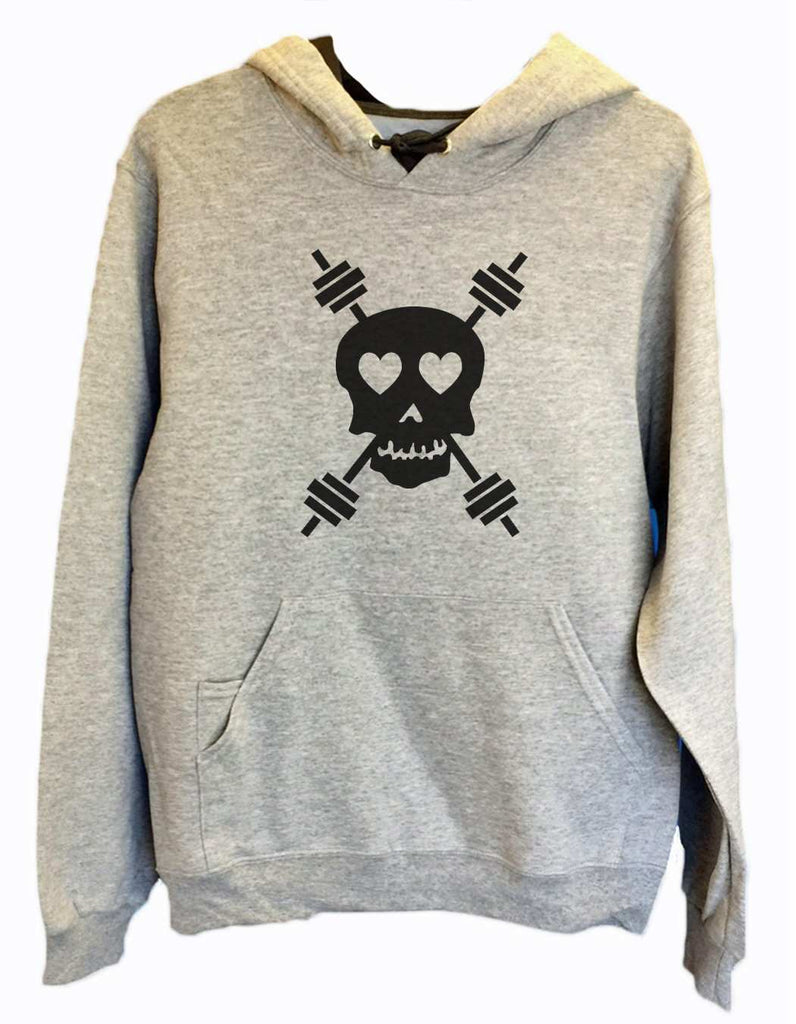 UNISEX HOODIE - Skull - FUNNY MENS AND WOMENS HOODED SWEATSHIRTS - 653 Funny Shirt Small / Heather Grey