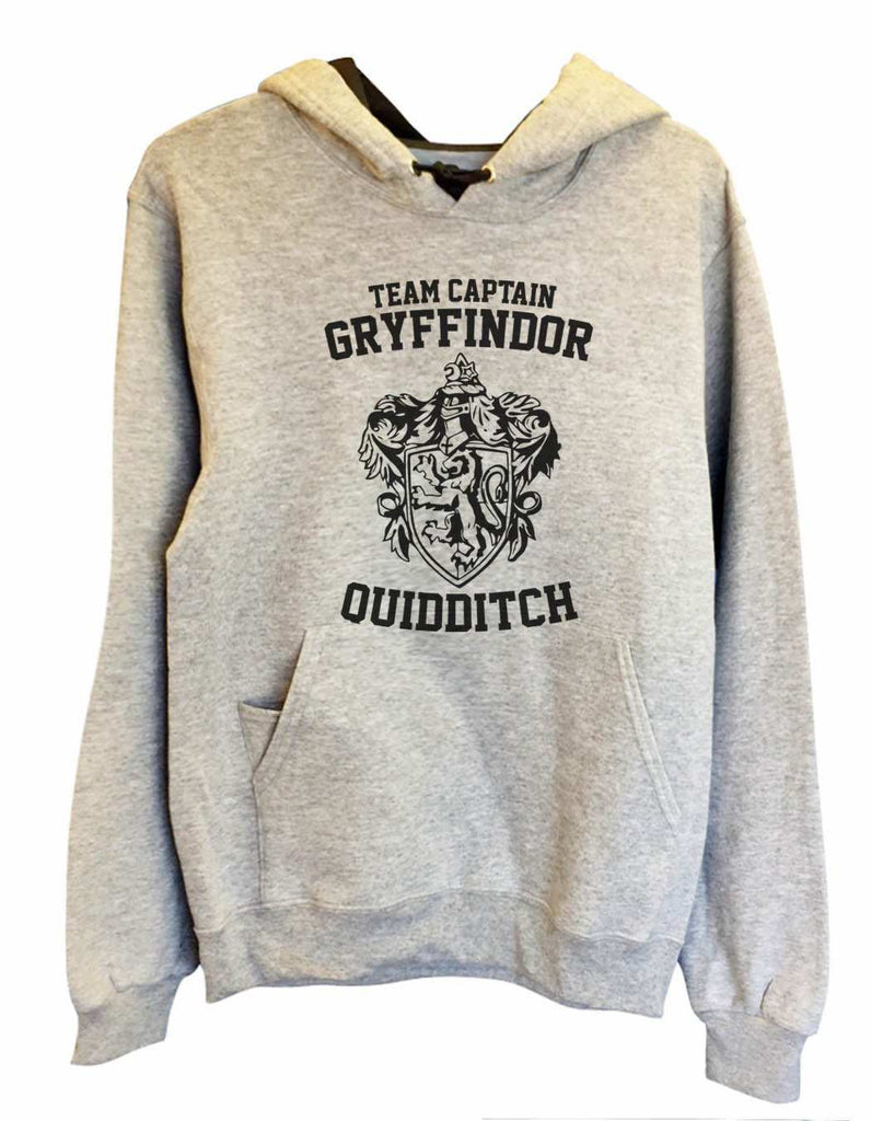 UNISEX HOODIE - Team Captain Gryffindor Quidditch - FUNNY MENS AND WOMENS HOODED SWEATSHIRTS - 2126 Funny Shirt Small / Heather Grey