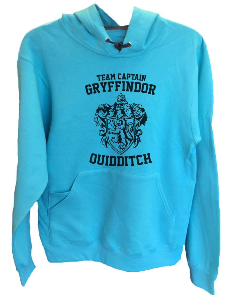 UNISEX HOODIE - Team Captain Gryffindor Quidditch - FUNNY MENS AND WOMENS HOODED SWEATSHIRTS - 2126 Funny Shirt Small / Turquoise