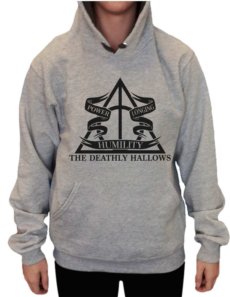 UNISEX HOODIE - The Deathly Hallows - FUNNY MENS AND WOMENS HOODED SWEATSHIRTS - 2125 Funny Shirt Small / Heather Grey