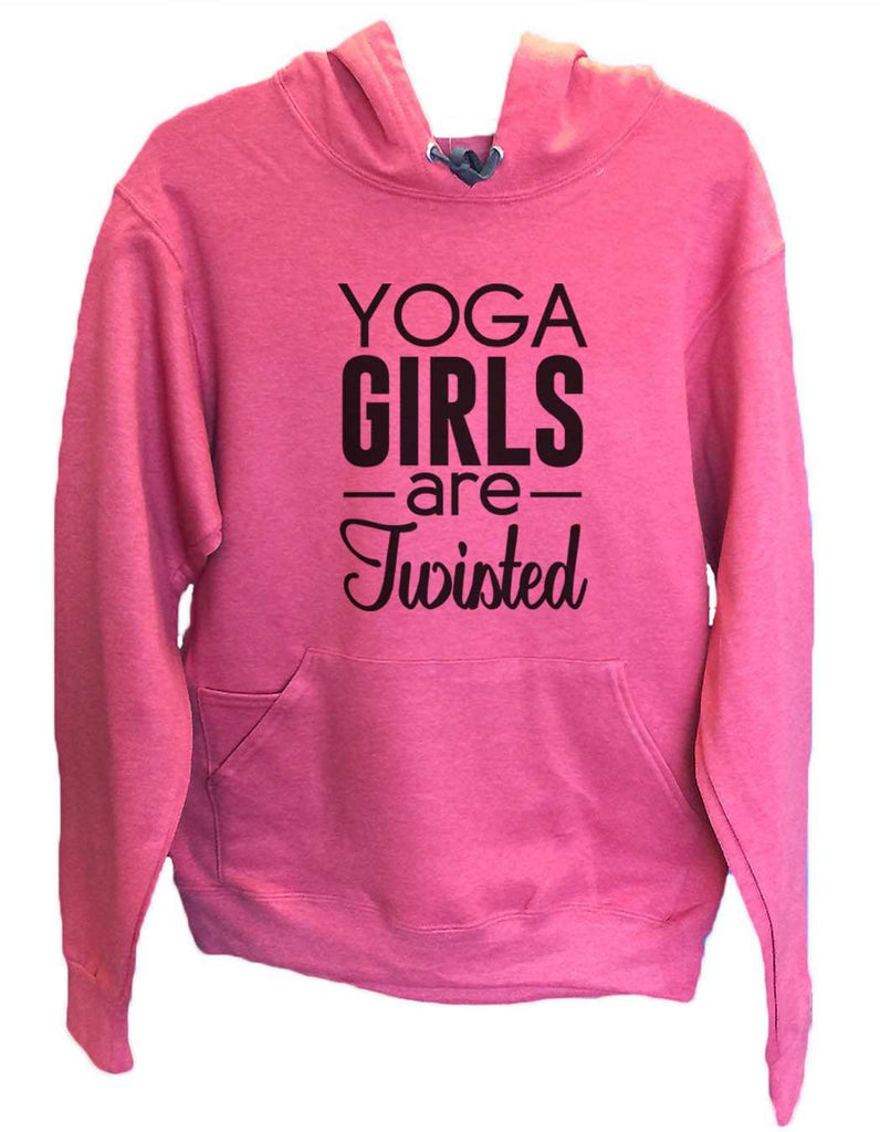 UNISEX HOODIE - Yoga Girls Are Twisted - FUNNY MENS AND WOMENS HOODED SWEATSHIRTS - 2120 Funny Shirt Small / Cranberry Red
