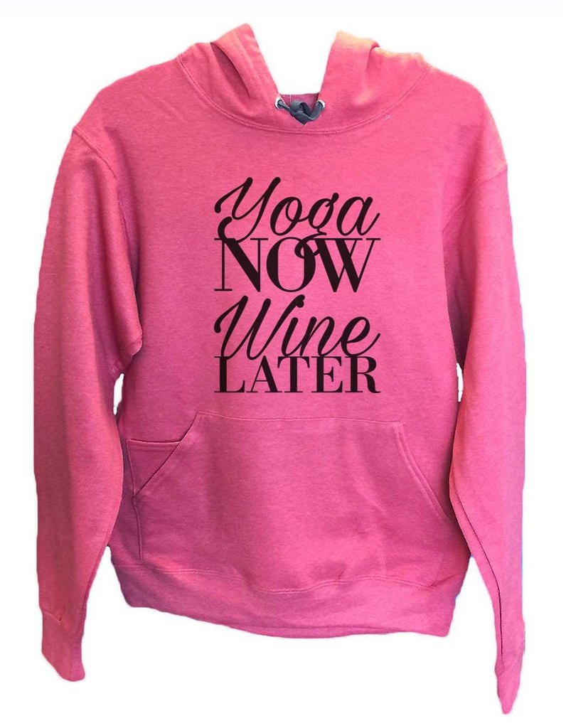 UNISEX HOODIE - Yoga Now Wine Later - FUNNY MENS AND WOMENS HOODED SWEATSHIRTS - 2152 Funny Shirt Small / Cranberry Red
