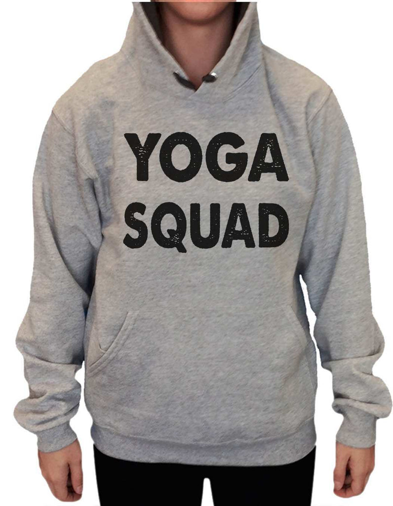 UNISEX HOODIE - Yoga Squad - FUNNY MENS AND WOMENS HOODED SWEATSHIRTS - 2185 Funny Shirt Small / Heather Grey