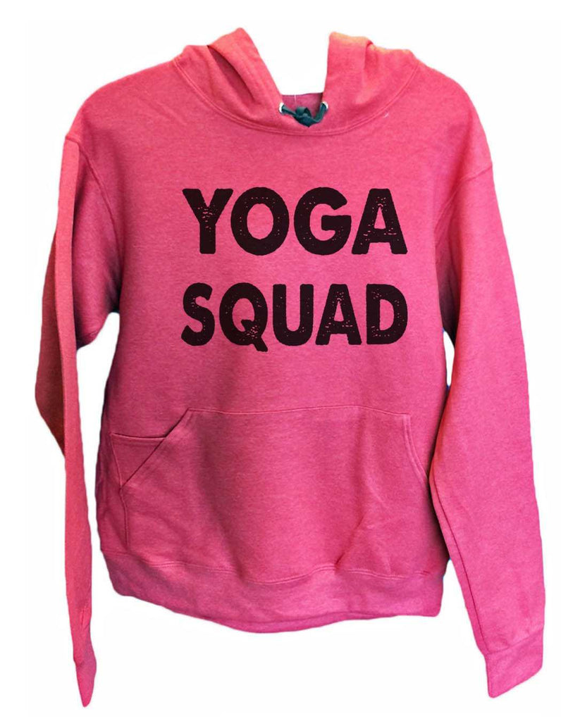 UNISEX HOODIE - Yoga Squad - FUNNY MENS AND WOMENS HOODED SWEATSHIRTS - 2185 Funny Shirt Small / Cranberry Red