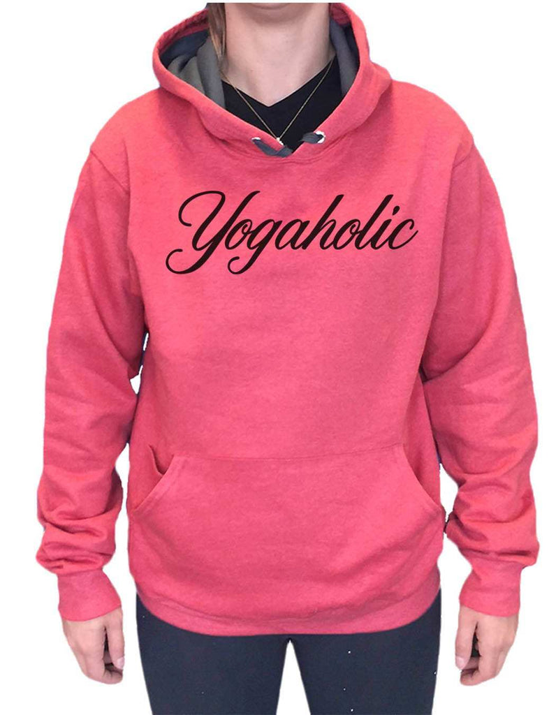 UNISEX HOODIE - Yogaholic - FUNNY MENS AND WOMENS HOODED SWEATSHIRTS - 2123 Funny Shirt Small / Cranberry Red