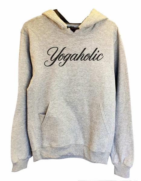 UNISEX HOODIE - Yogaholic - FUNNY MENS AND WOMENS HOODED SWEATSHIRTS - 2123 Funny Shirt Small / Heather Grey
