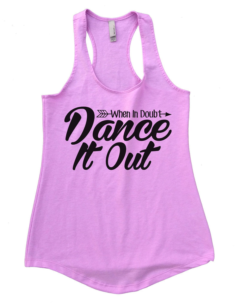 When I Doubt Dance It Out Womens Workout Tank Top Funny Shirt Small / Lilac