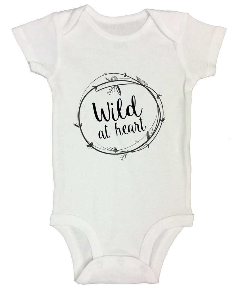 Wild At Heart Funny Kids Onesie Funny Shirt Short Sleeve 0-3 Months