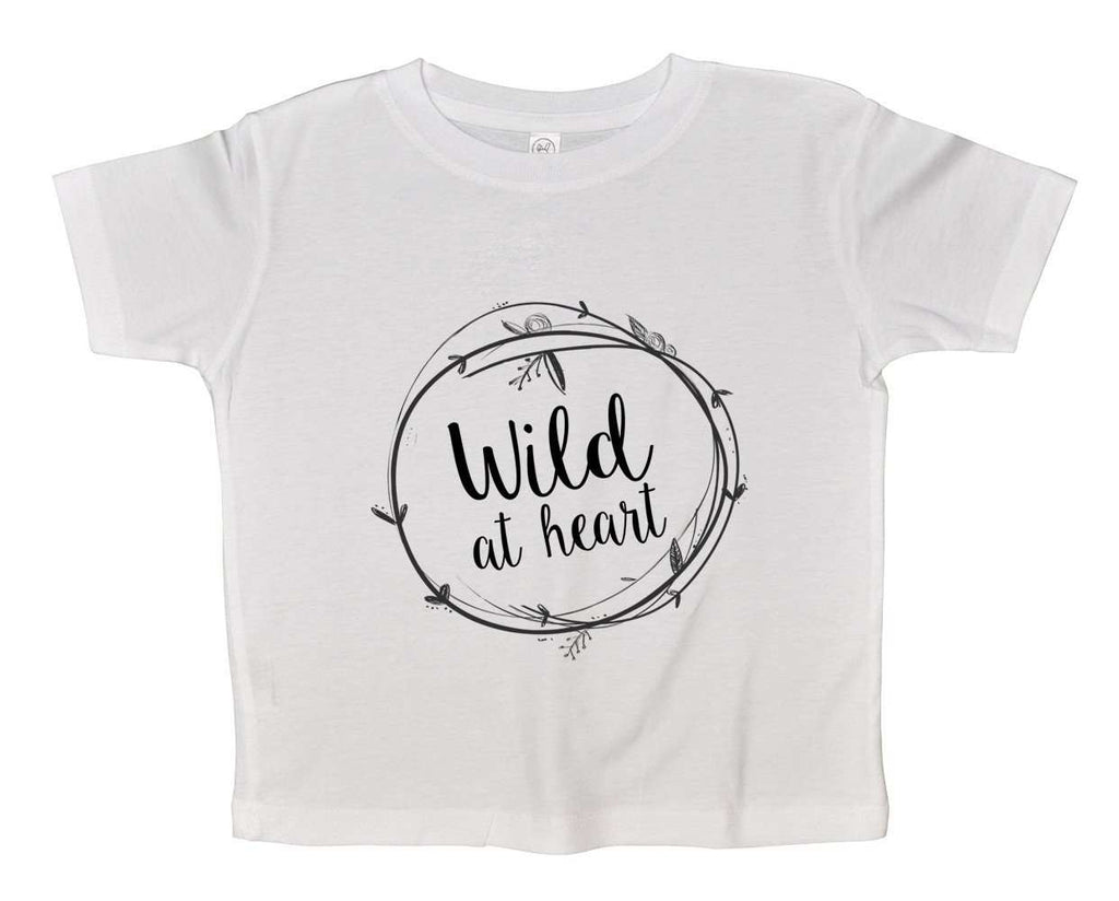 Wild At Heart Funny Kids Onesie Funny Shirt 2T White Shirt